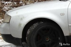 Крыло переднее левое на Audi А6 С5 седан